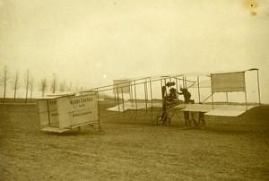 France Chalons Aviation Pioneer Farman Biplane n°3 Old Photo Rol 1909