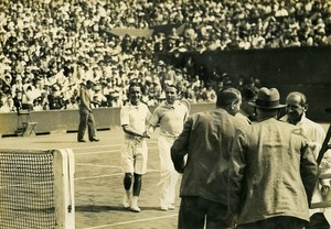 France Germany Tennis Roland Garros Andre Merlin & Nourney old Photo 1934