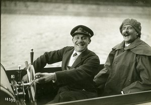 France Paris la Jatte Soriano Juan Perez Caballero Motorboat Photo Meurisse 1911