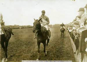 France Longchamp Grand Steeple Chase Lord Loris Winner old Photo Branger 1914