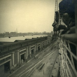 Canadian Pacific Steamship Company Cruise Empress of Britain Docks Photo 1930's