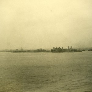 New York or Liverpool? Tourist View from Ocean Liner Old Photo 1936