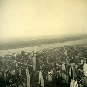 USA New York Panorama from Empire State Building? Old Photo 1936
