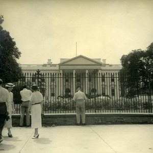 USA Washington White House Tourist Trip Old Photo 1936