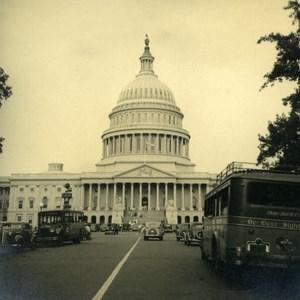 USA Washington United States Capitol Tourist Trip Bus Automobile Old Photo 1936