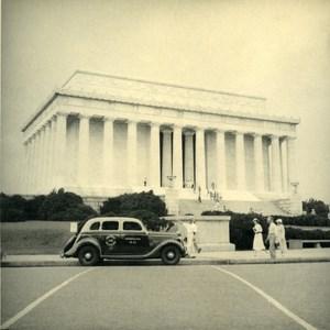 USA Washington DC Lincoln Memorial Tourist Trip Automobile Old Photo 1936