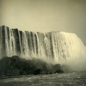 USA Canada New York State Niagara Falls Panorama Old Snapshot Photo 1936