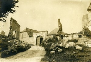 France Aisne Village House Ruins WWI First World War Army Old Photo SPA 1918