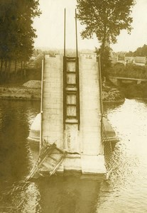 France Bridge Destruction WWI First World War Army Old Photo SPA 1918