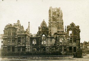 France Arras City Hall Ruins WWI First World War Army Old Photo SPA 1918