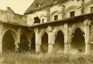 France Cloister Ruins WWI First World War Army Old Photo SPA 1918