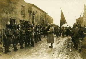 France Ceremonial Parade Front WWI First World War Army Old Photo SPA 1918