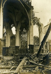 France Church Ruins WWI First World War Army Old Photo SPA 1918