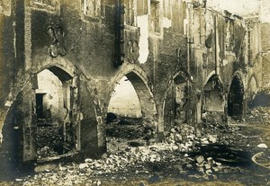 France Reims Cloister Ruins WWI First World War Army Old Photo SPA 1918