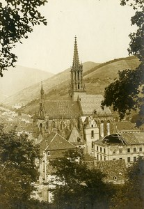 France Metzeral Alsace Church WWI First World War Army Old Photo SPA 1918