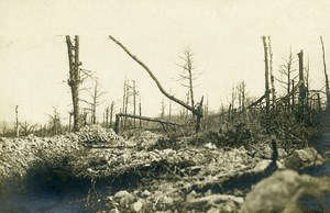 France Argonne Trench Destruction WWI First World War Army Old Photo SPA 1918