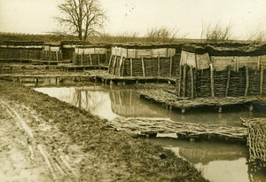 France Flooded Trench WWI First World War Army Old Photo SPA 1918