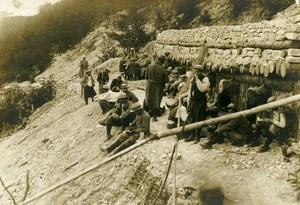 France Trench Troops Lunch Break WWI First World War Army Old Photo SPA 1918