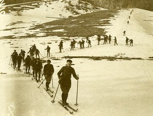 France Alpine Troops Ski WWI First World War Army Old Photo SPA 1918
