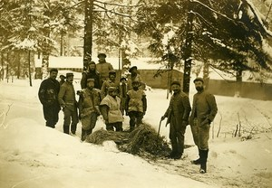 France Cantonment in the Snow WWI First World War Army Old Photo SPA 1918