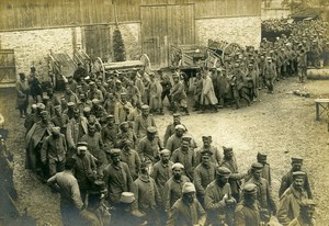 France Column of German Prisoners WWI First World War Army Old Photo SPA 1918
