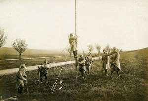 France Wireless Station Telegraphy WWI First World War Army Old Photo SPA 1918