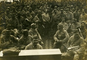 France Theater at Front Musicians WWI First World War Army Old Photo SPA 1918