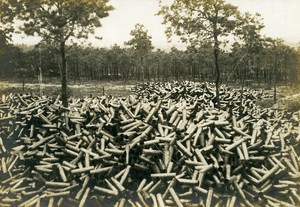 France After the Battle Shells WWI First World War Army Old Photo SPA 1918
