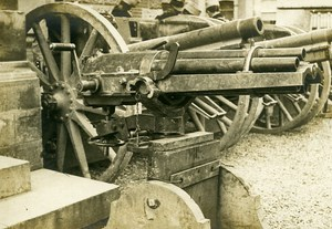 France Captured German Cannon Gun WWI First World War Army Old Photo SPA 1918