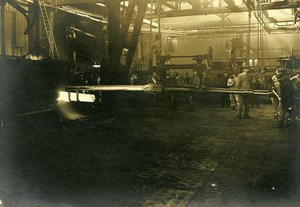 France War Armament Factory Ingot WWI First World War Army Old Photo SPA 1918