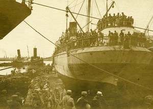 Greece Salonika Harbor Troops WWI First World War Army Old Photo SPA 1918
