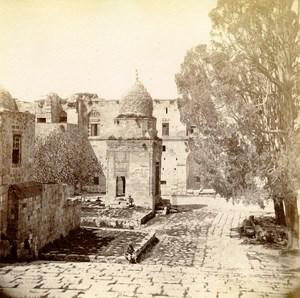 Middle East Israel Jerusalem Elijah Mausoleum Old Anonymous Albumen Photo 1880