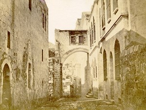 Middle East Israel Jerusalem Ecce Omo Arch Old Anonymous Albumen Photo 1880