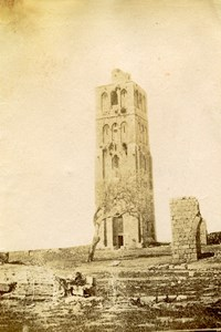 Middle East Ramla White Tower Old Anonymous Albumen Photo 1880