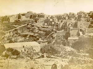 Middle East Palestine Bethlehem Old Anonymous Albumen Photo 1880
