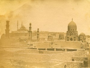 Middle East Egypt Cairo Grave of Mamluks City of the Dead Old Photo 1880