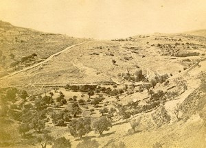 Middle East Valley of Josaphat Old Anonymous Albumen Photo 1880