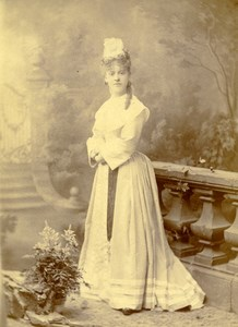 France Paris Portrait Woman Fashion Old Cabinet Photo Van Bosch 1880