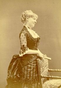 France Paris Portrait Actress Suzette Reichenberg Old Cabinet Photo Nadar 1880