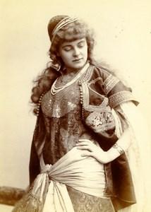 France Paris Portrait Actress Oriental Fashion Old Cabinet Photo Nadar 1880