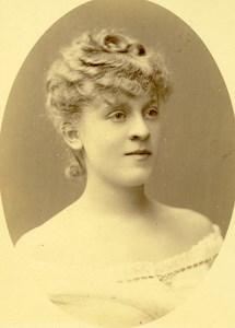 France Paris Portrait Actress Suzette Reichenberg Old Photo CC Nadar 1890