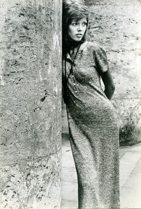 France Paris Timwear Seventies Fashion Woman Portrait Study Old Photo 1971