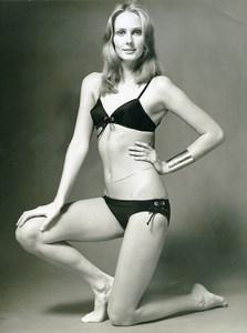 France Paris Arnel Swimsuit Fashion Woman Portrait Study Seventies Photo 1970