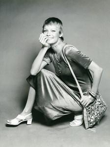 France Paris Arnel Shirt Dress Fashion Woman Portrait Study Seventies Photo 1970