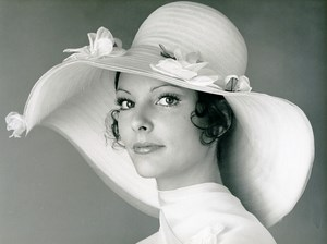 France Paris Make Up Hair Scherrer Hat Fashion Woman Portrait Study Photo 1971