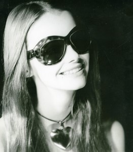 France Paris Make Up & Hair Fashion Woman Portrait Study Old Photo 1970