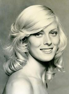 France Paris Vichy Make Up & Hair Fashion Woman Portrait Study Old Photo 1970