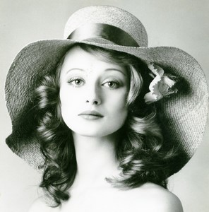 France Paris Make Up & Hair Hat Fashion Woman Portrait Study Old Photo 1970
