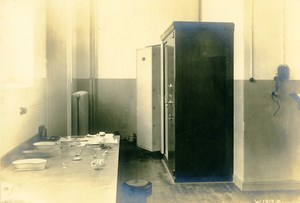 Germany Essen Krupp Dental Steel Factory Workshop Dental Cabinet Old Photo 1930