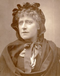 British Theatre Actress Ada Cavendish Old Woodburytype Photo Barraud 1885